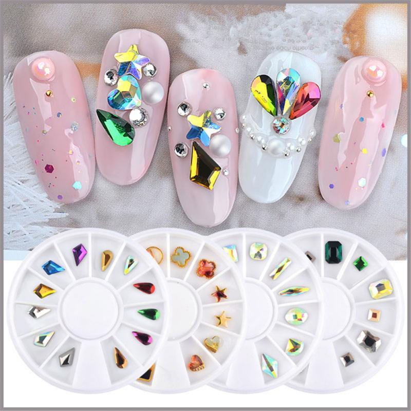 Manicure Decorative Alloy Jewelry Flat Bottom Ab Nail Art Adorable Decorative Nail Art Designs