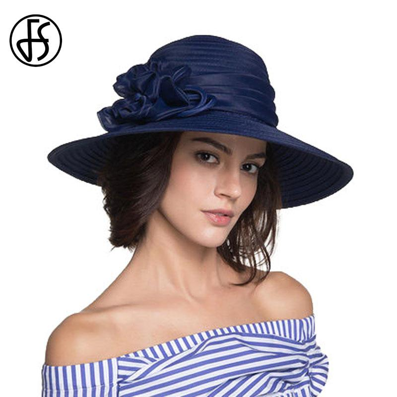 08ef37ddd23 FS Summer Floral Sun Hats For Women UV Protect Hat Wide Large Brim Floppy  Beach Hat 2017 Fashion Elegant Chapeu Feminino Fur Hats Men Hats From  Alley66