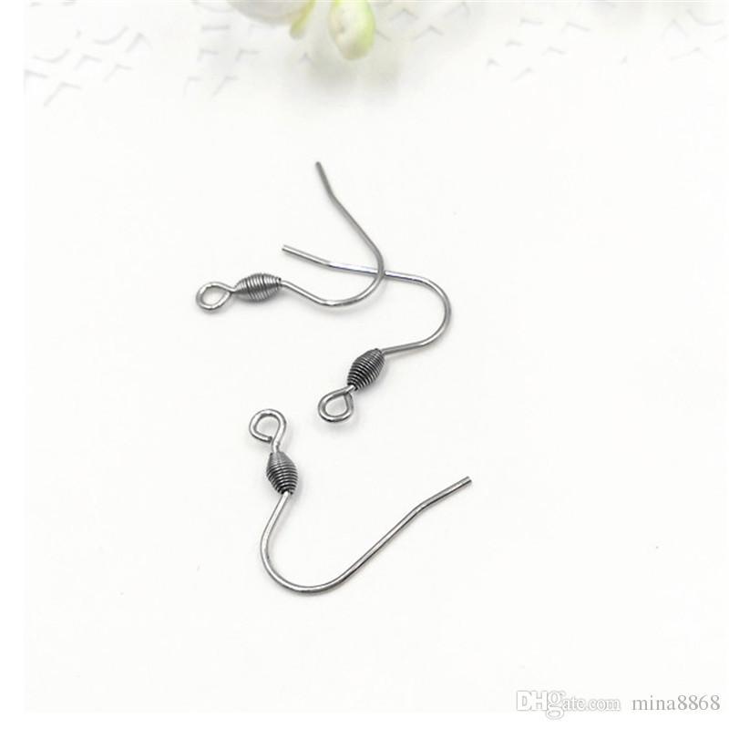 / en acier inoxydable chirurgical recouvert d'argent plaqué boucle d'oreille crochets sans nickel boucles d'oreille fermoirs pour les résultats de bricolage en gros