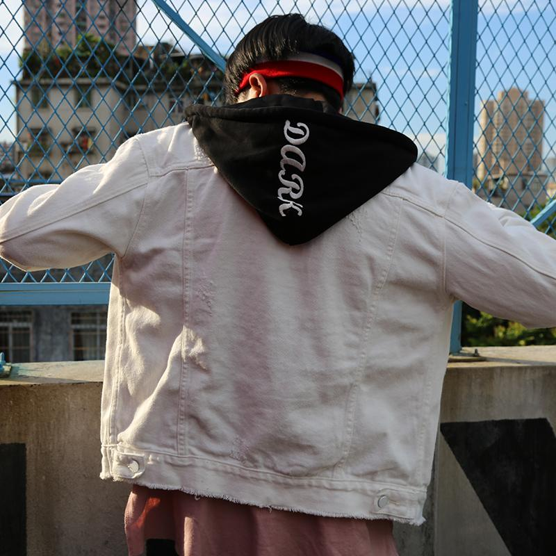 80e14750c9bfd Plus Size Autumn Winter Men S Denim Jacket With Detachable Hood Fashion  Green White Black Hooded Jeans Jacket Coat For Man Leather Womens Coats  Fleece ...