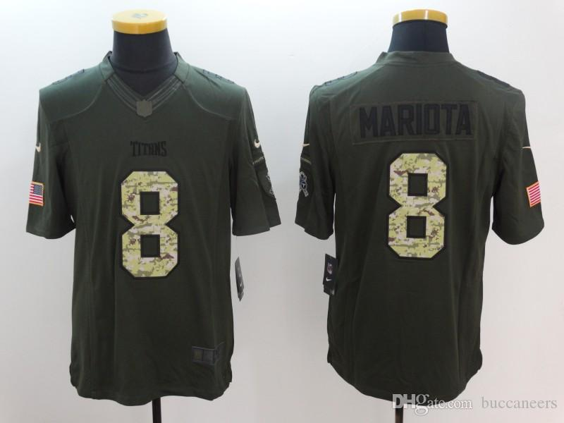 2018 8 Marcus Mariota Jersey Tennessee Titan Kevin Byard Derrick Henry Camo  Salute Service Factory Custom American Football Jerseys Stitched Dhl From  ... a9c74539a