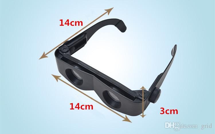 Grid Hot Selling Black High Quality Fishing telescope 3x28 Magnifier Glasses Style Outdoor Fishing Optics Binoculars Telescope