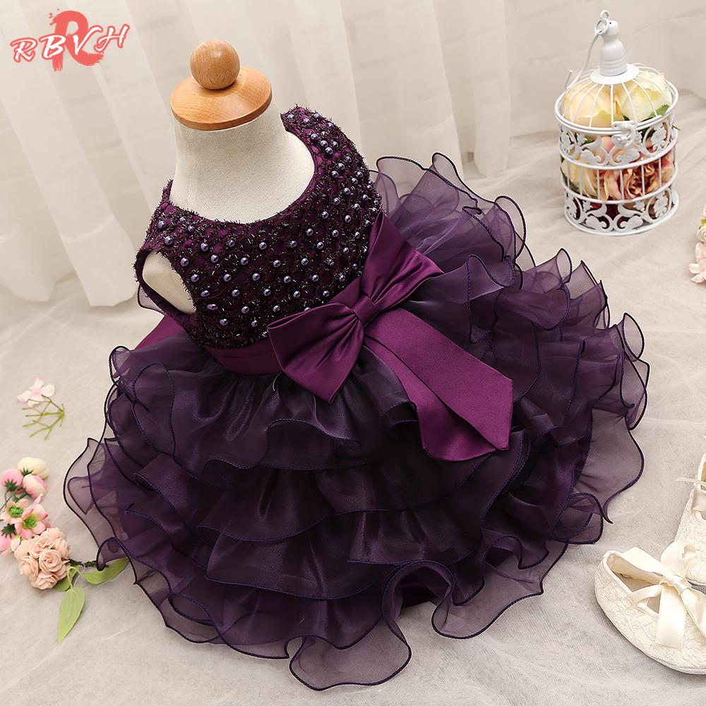 Trendy Baby Girl Baptism Clothes Tulle Lush Dress For Girl Wedding Kids Party Dresses For Toddler 1 Year Birthday Outfits
