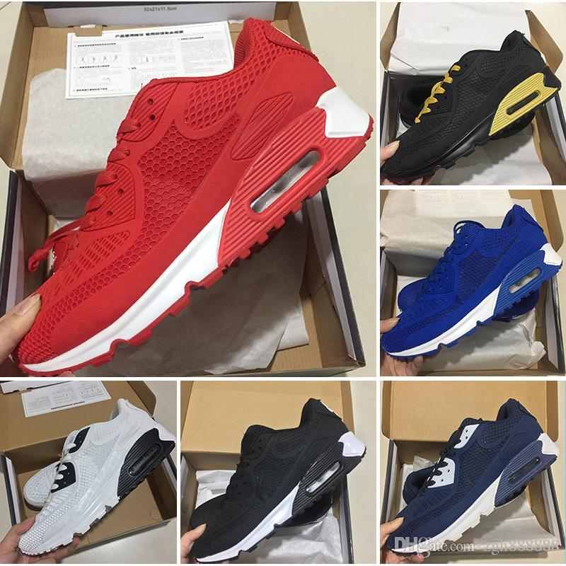 cheap for discount 47590 4d15e Acheter Sneakers Chaussures Classique Nike Air Max 90 Kpu Ultra Id Hommes  Et Femmes Chaussures De Course Sport Formateur Coussin Surface Respirant  Sports De ...