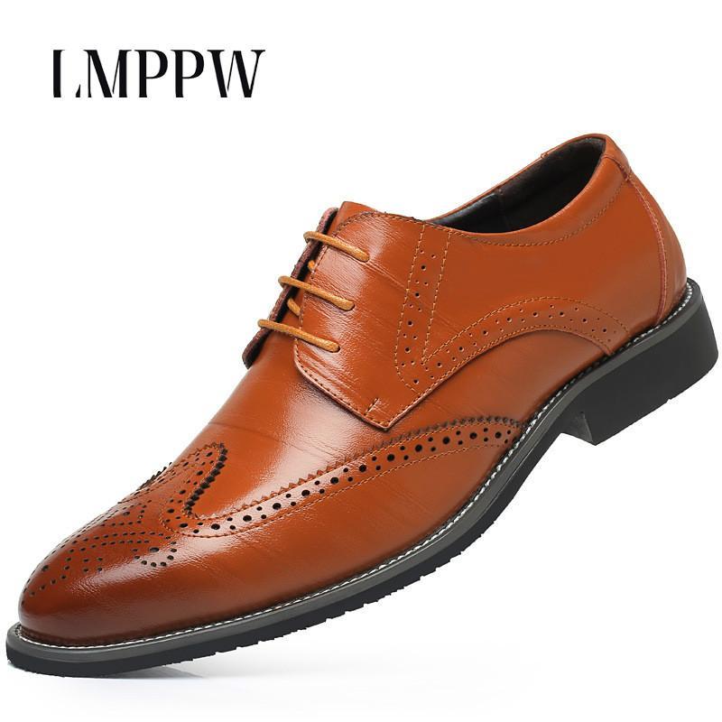 Großhandel Plus Größe 38 48 Männer Leder Kleid Schuhe Spitz Business  Formale Männer Büro Schuhe Hohe Qualität Britischen Lace Up Herren Oxfords  Von ... 393e35ea30