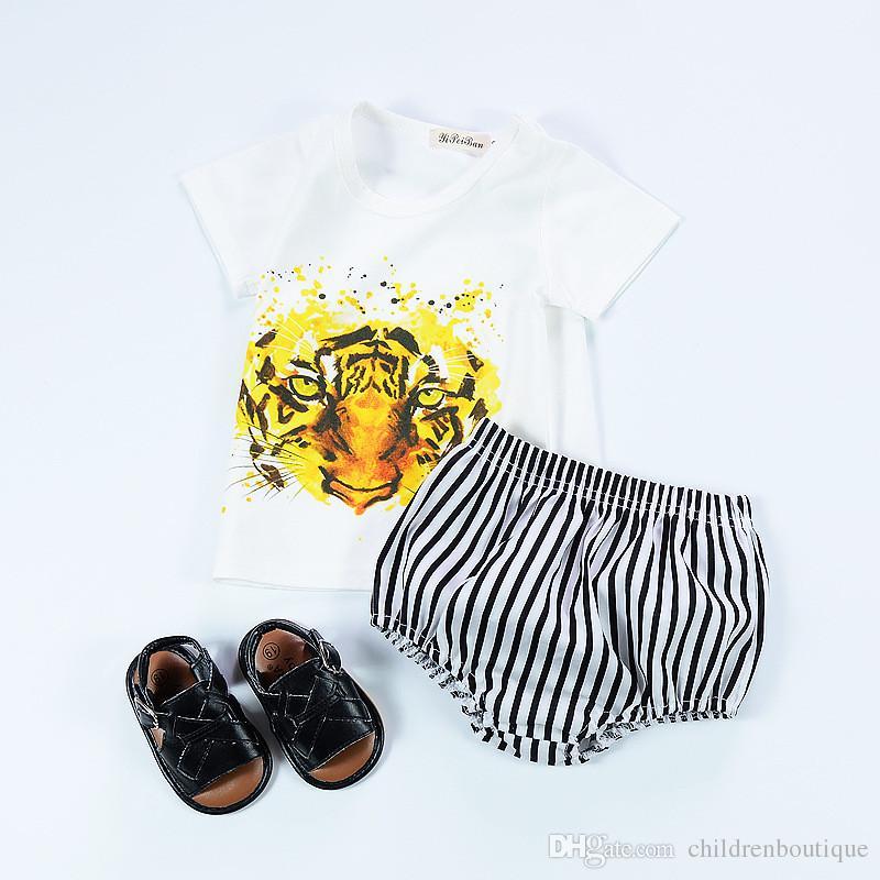 Kinder Unterteile Striped Infant Kleinkind Baby Shorts Mädchen PP Kurze Neugeborenes Baby Kleidung Bloomers Sommer Kinder Harem Baby Jungen Brot Hosen