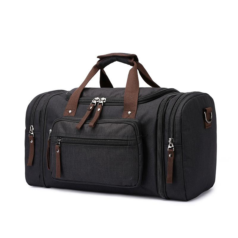 c9fa862eb79a BERAGHINI Large Capacity Travel Bags For Men Canvas Handbag Multi Function Male  Travel Tote Weekend Bag Handmade Duffle Bags Computer Bags Briefcases From  ...