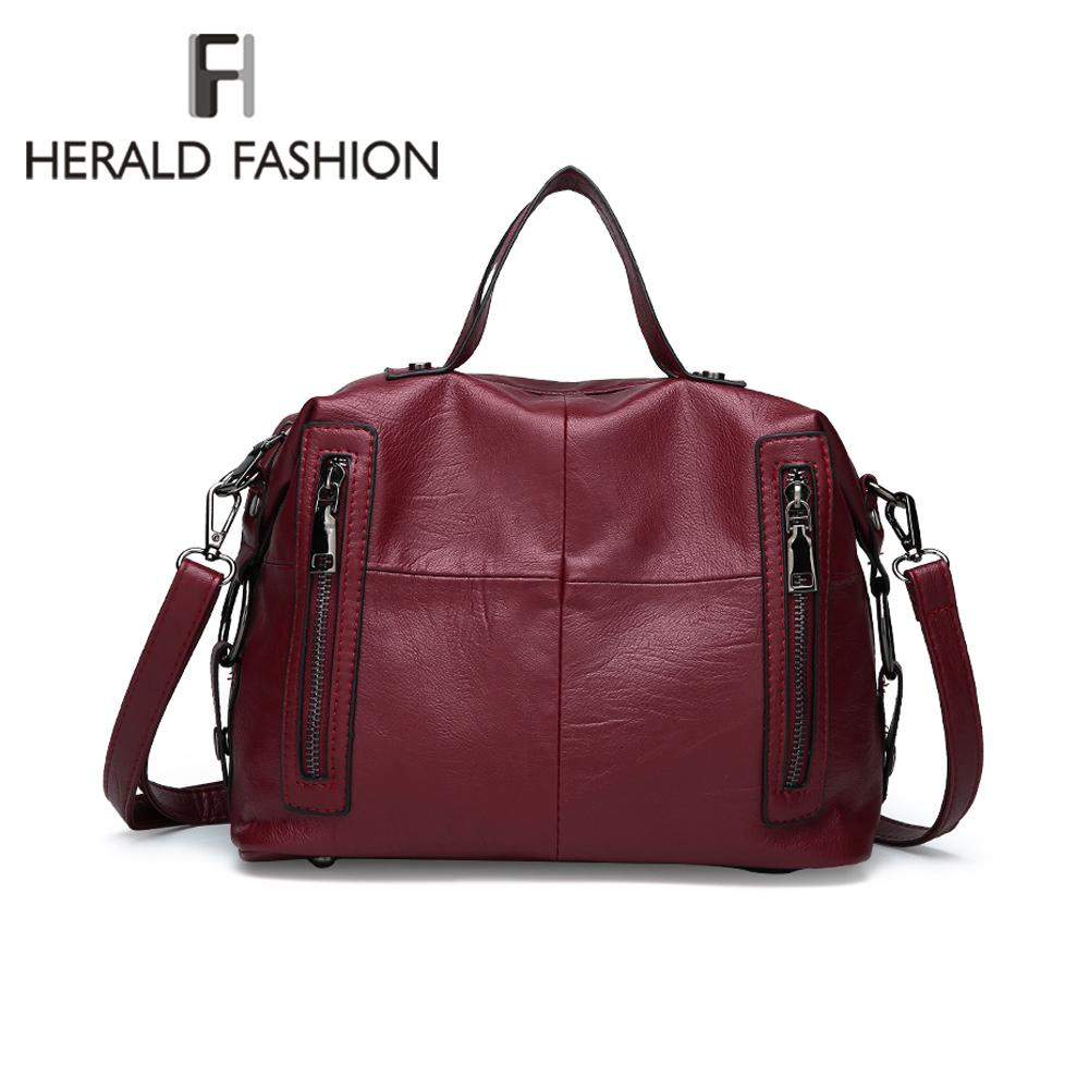 fee587a54 Compre Herald Moda Bolsas De Luxo Mulheres Sacos De Designer De Qualidade  De Couro Feminino Bolsa De Ombro Grande Ocasional Tote Bags Bolsa Feminina  De ...