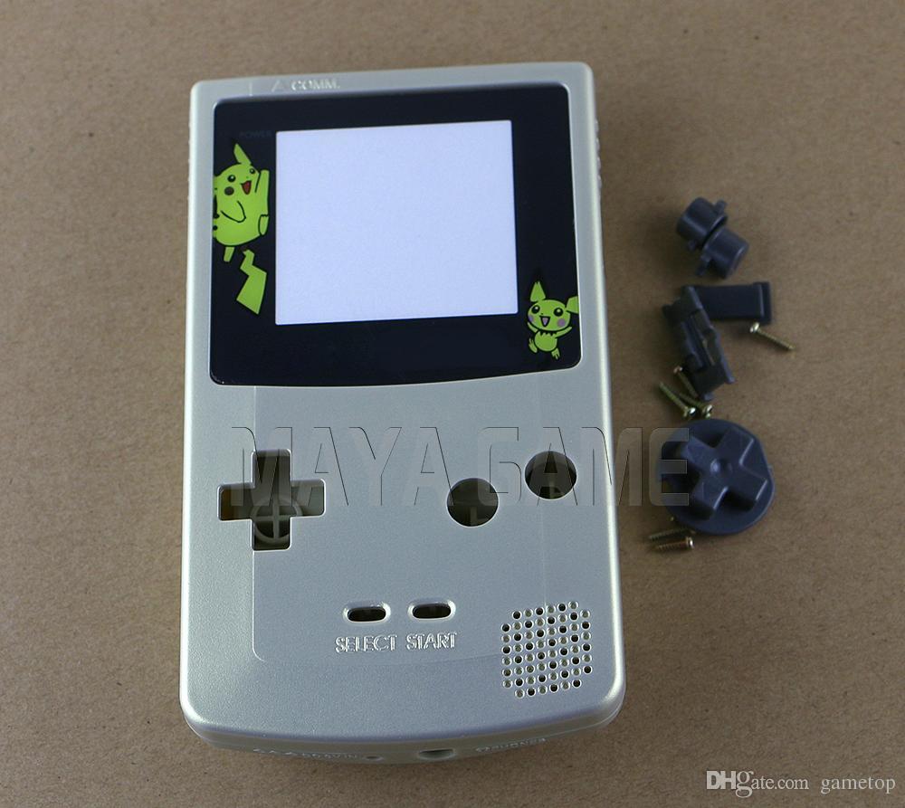 Ouro para o caso de Shell da carcaça da substituição da cor do GameBoy para GBC
