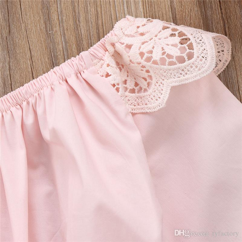 2017 Newborn Baby Girls Clothing Kids Pink Romper Long Sleeve Outfits Autumn Spring Ruffles Rompers Jumpsuit Fashion Kid Girl Clothing 0-24M