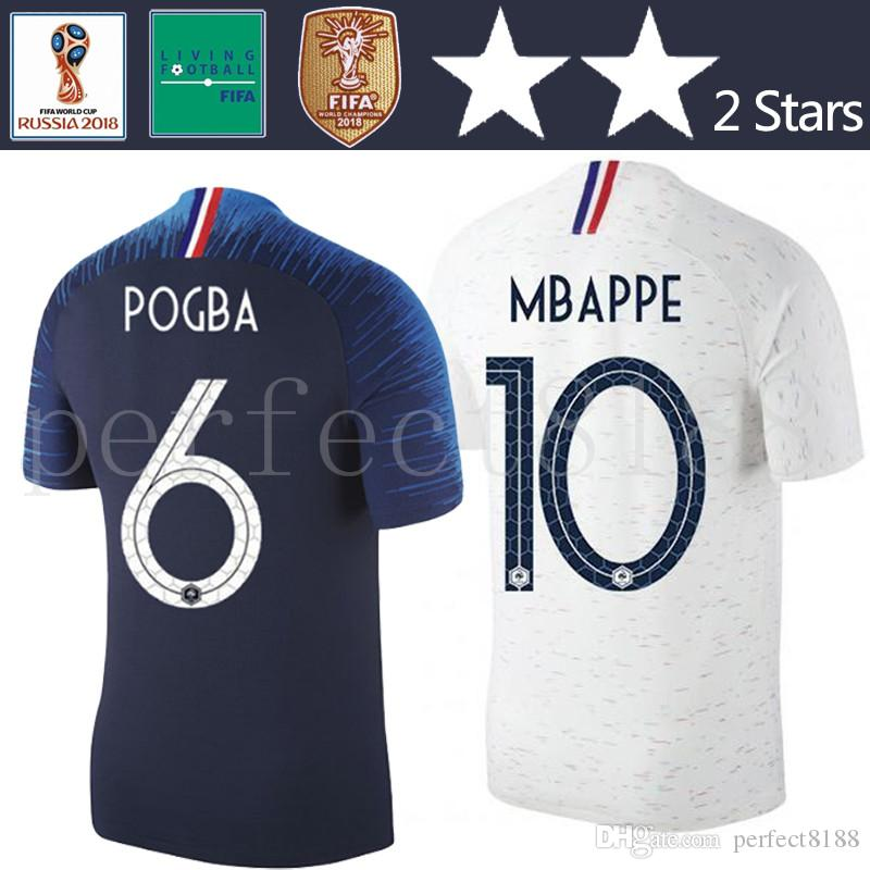 2 Stars Thailand POGBA MBAPPE Soccer Jersey World Cup 2018 Home Away ... 0a4bb7dd3