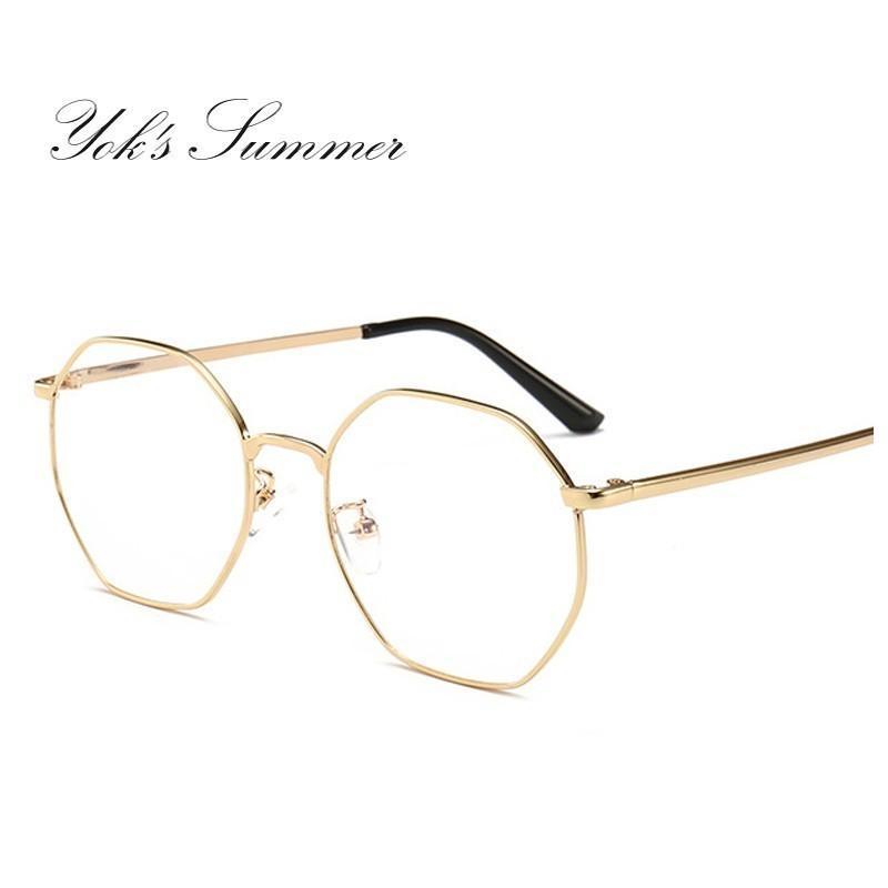 954dd7619de 2019 Yok S Vintage Polygon Glasses Computer Anti Blue Ray Thin Metal  Glasses Optical Myopia Eyewear Frame Trend Decoration Lunette WN1141 From  Yoks
