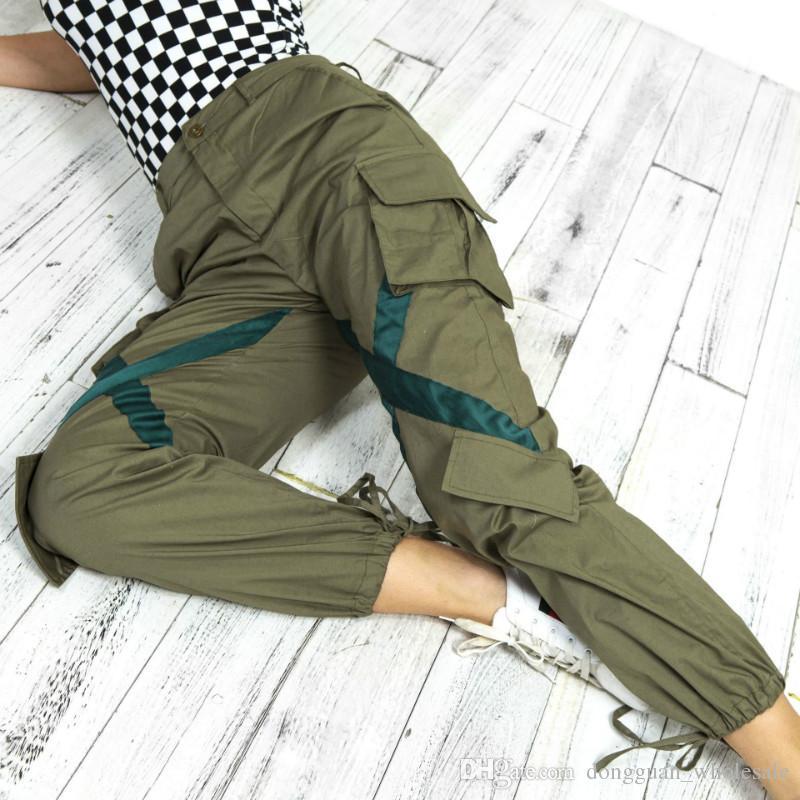 Women in sexy cargo pants