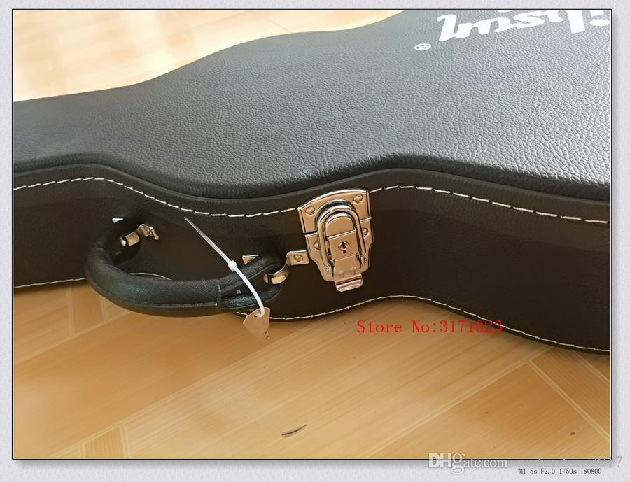 custodia rigida chitarra elettrica L-p, chitarra elettrica marrone / nero Hardcase, molti colori inclusi, alcuni paesi spedizione gratuita