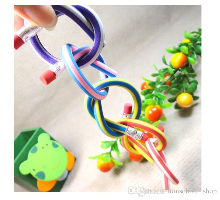Creative Flexible Soft Pencil Magic Bend Prevent breaking Pen Soft Bending deformation Pencils Student Whriting Pen With Eraser Kids Toy