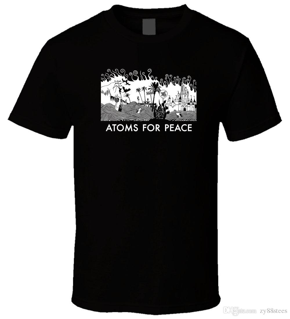 ac00b743728e Atoms For Peace Band 1 New T Shirt Tee Shirt Men Male Design Custom Short  Sleeve Plus Size Couple T Shirts Best T Shirt Online Buy Funky T Shirts  Online ...