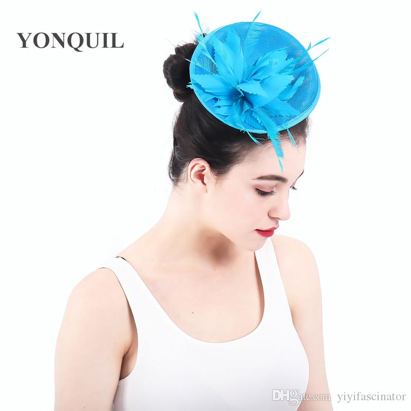 a42b9cb431e2b Multiple Colors Women Fancy Imitation Sinamay Fascinator Hats Ivory Flowers Bridal  Wedding Hats And Red Cocktail Fascinator Base SYF301 Fascinator Hats ...