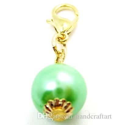 Pearl Lobster Clasp Dangles Necklace Pendants Jewelry, Accept Customization LSFE02