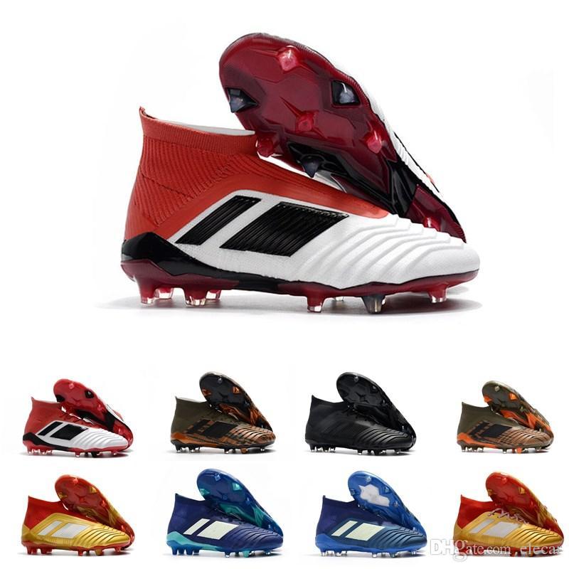 792998863d08 Discount High Quality Predator 18+ FG Men Soccer Shoes Waterproof Golden  Series Triple Black Football Training Cleats Spikes Size39-45 Men Soccer  Shoes ...