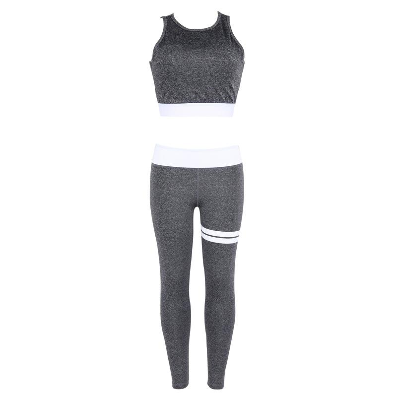 f3e404a423110 2019 Women S Fitness Suits Workout Sexy Backless Crop Tank Top High Waist  Legging Pants Set Fashion Female Grey Tracksuit From Beautyjewly