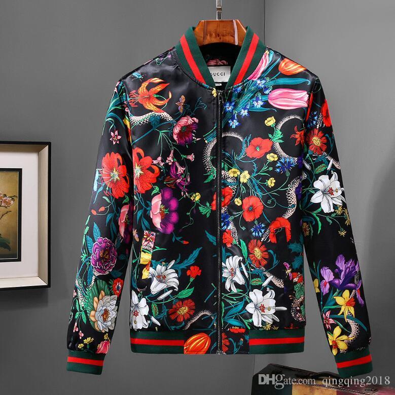 e85116561f9b Italy Autumn Snake Bee Tiger Print Jackets Men New Luxury Brand Windbreaker  Men High Street Men Sport Jacket Coats. Ladies Leather Coats Italian  Leather ...