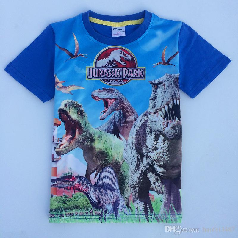 6aa651be9 2019 Jurassic World Dinosaur Children Boys T Shirt Summer Baby Kids Boys  Tops Tee T Shirts For Children Boys Clothes Garments 3 9T From Haofei3487,  ...