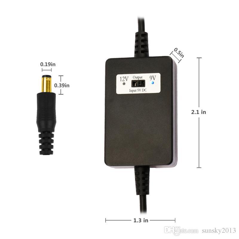 USB DC 5V zu DC 12V oder 9V Step Up Kabelmodul DC USB Power Boost Linie Step Up Modul Boost Converter Adapterkabel 1.5m