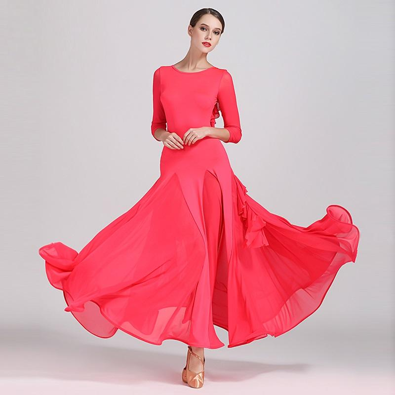 c2f5be98403e 2019 Yellow Ballroom Dress Woman Ballroom Dance Clothes Red Spanish  Flamenco Dress Viennese Waltz Fringe Tango Foxtrot From Hoeasy, $69.95 |  DHgate.Com