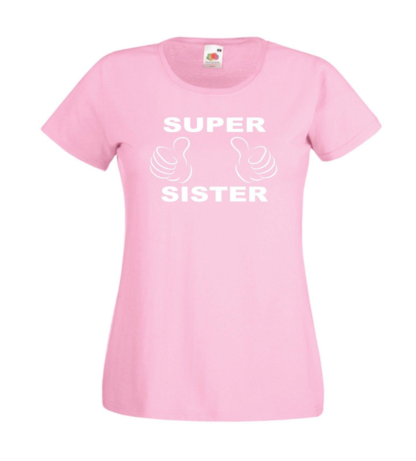 SUPER SISTER Mothers Aunts Top Xmas Birthday Gift Idea Mens Womens ADULT T SHIRT Funny Unisex Casual Tee Gag Shirts With Prints From