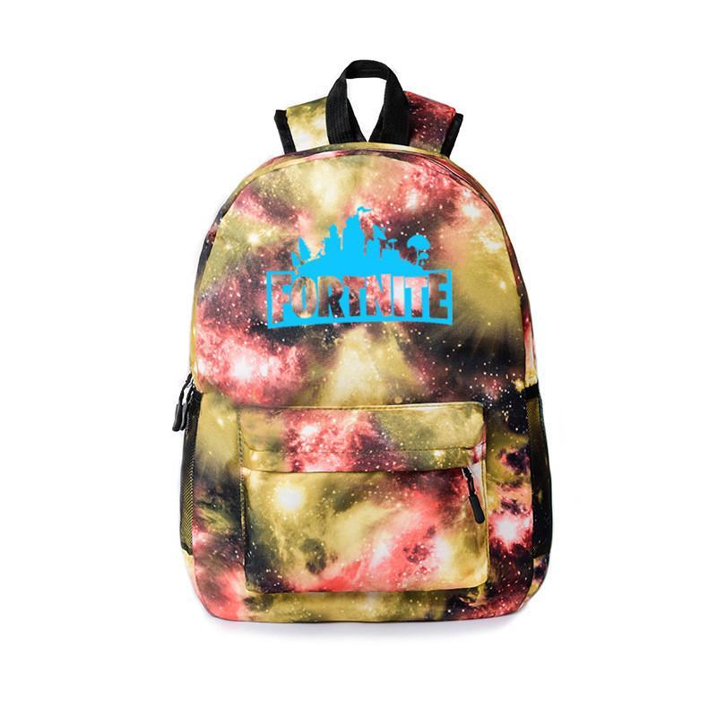 2019 5 Styles Fortnite Battle Royale Starry Sky Luminous Backpacks Kids  Unisex Student School Book Bag Shoulder Bag Outdoor Boys Travel Bag New  From ... ff4d85b37d6fb