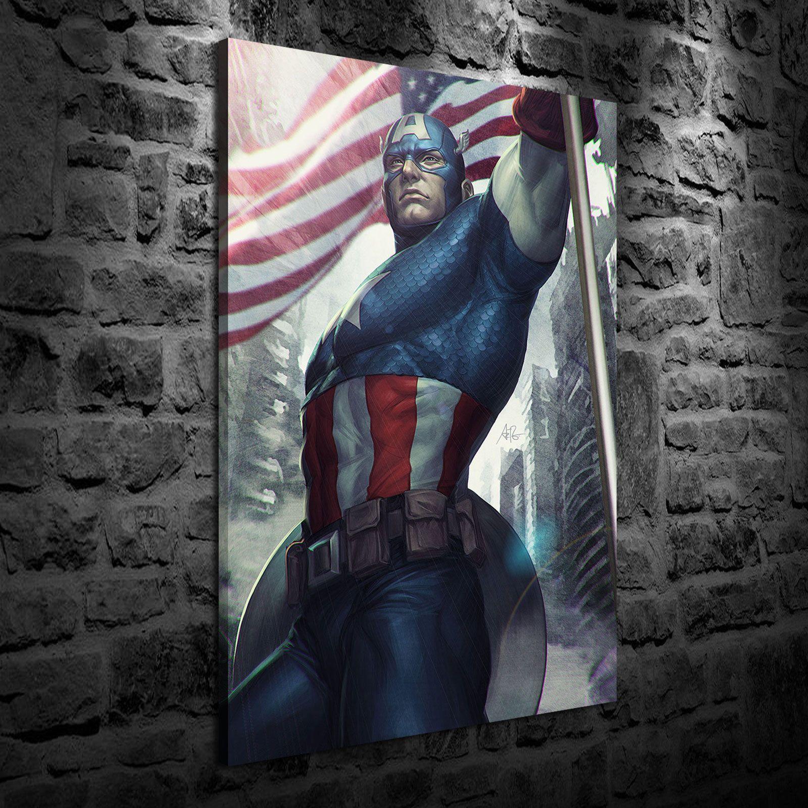 Großhandel Captain America, 1 Stück Home Decor Hd Gedruckt Moderne ...