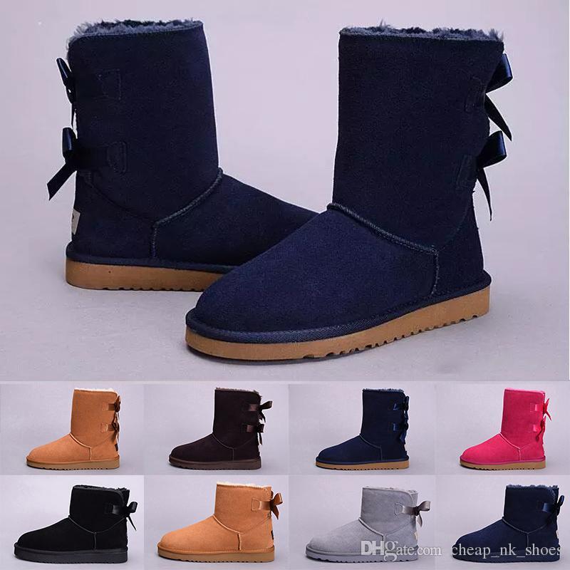 468e3a812bff0 Acheter UGG Boots Australie Classique Femmes WGG S agenouiller Bottes  Bottines Noir Gris Châtain Bleu Marine Femmes Fille Bottes Taille US 5 10  De  63.32 Du ...