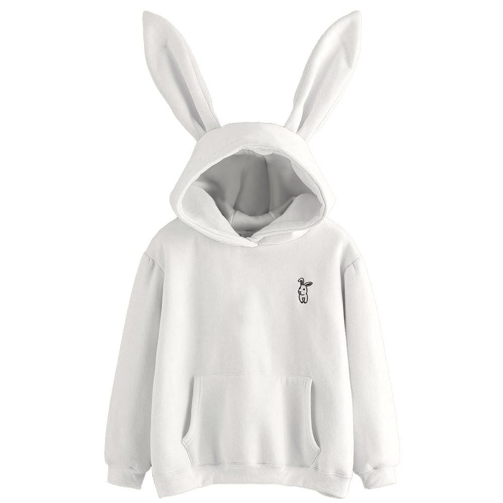 642a48401 Feitong 2018 Hoodies Harajuku Womens Long Sleeve Rabbit Hoodie ...