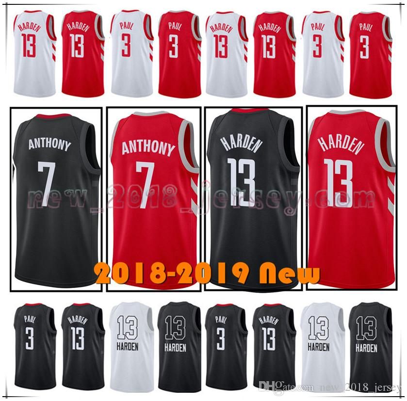 8b6117c95 ... nba jersey df8d8 86031  best price 2018 2018 new mens houston 13 james  harden 7carmelo anthony 3 chris paul basketball