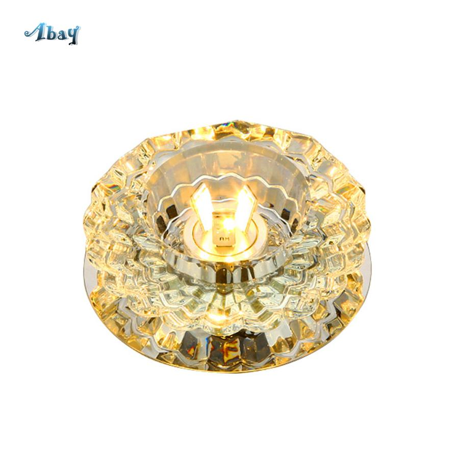 Nordic art deco small led crystal ceiling lights for art gallery living room decoration balcony lamp dining room lights fixture