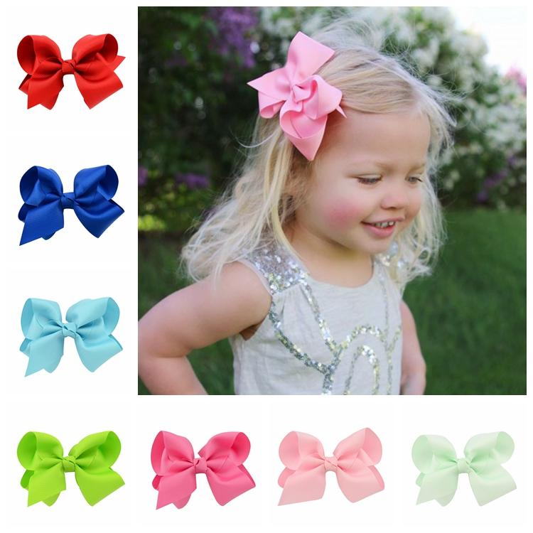 20pcs/lot Fashion Solid Grosgrain Ribbon Bow Hairpins Boutique Hair Clips For Children Kids Girls Hair Accessories 612