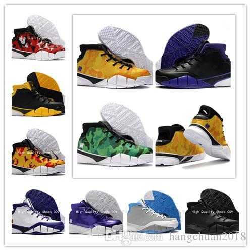 a45b57593fb 2018 New Kobe 1 Protro ZK1 Black Purple Thomas Camouflage Green Gum  Basketball Shoes Men KB One 1s Sports Trainers Sneakers Size 40 46 East Bay  Shoes Shoes ...