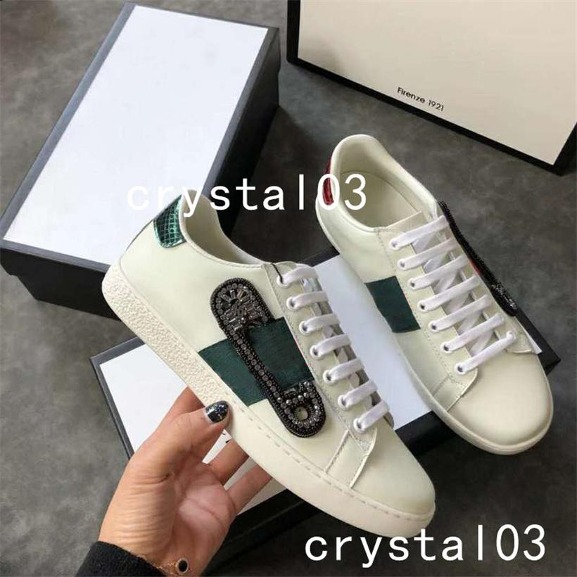 17c2a6ce5a6 2019 2018 Womens Ace Pin Embellished Leather Sneakers Watersnake Trimmed  Crystal Embellished Stud Embellished Nylon Snake Trainers Shoes 008 From  Xiaonanzi