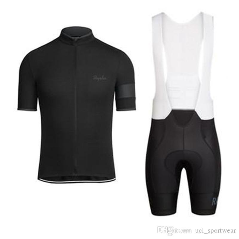 RAPHA estate uomo manica corta maglia ciclismo abbigliamento Abbigliamento bavaglino SET MTB uniforme PRO abbigliamento ciclismo bicicletta Maillot Culotte vestito