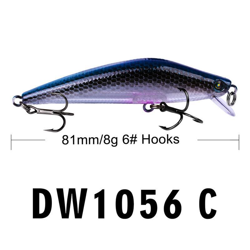 Nouveaux crochets de pêche Minnow dur appât 8g 8cm Wobbler Natation Artificielle Laser En Plastique Pêche Leurre