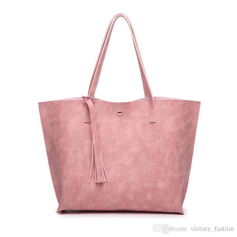 Women Messenger Bags Leather Casual Tassel Handbags Female Designer Bag Vintage Big Size Tote Shoulder Bag High Quality