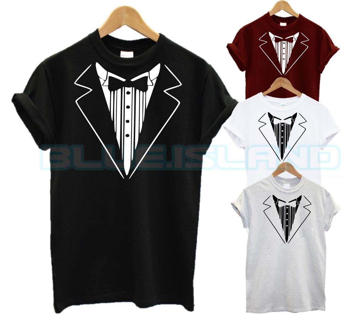 2df831611 Details Zu TUXEDO T SHIRT BOWTIE SMART SHIRT TIE FORMAL CASUAL FASHION GIFT  PRESENT XMAS NEFunny Unisex Casual Online Buy T Shirts Tna Shirts From ...