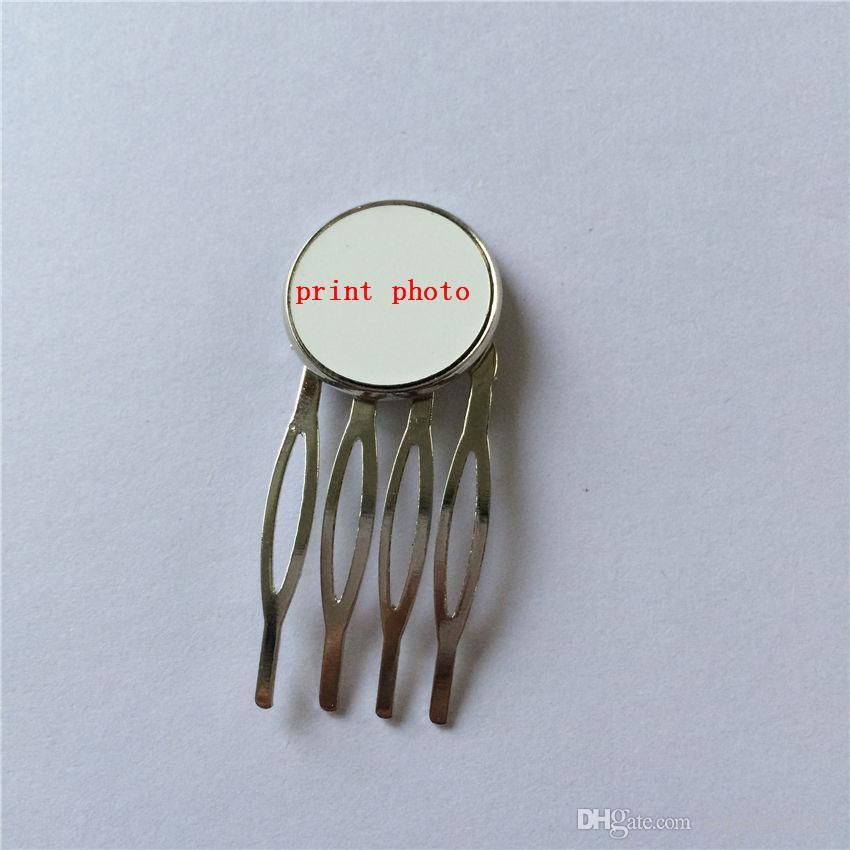 Joyas para el cabello personalizadas para sublimación peine de dientes accesorio para el cabello para mujeres consumibles diy en blanco para ventas al por mayor de transferencia de calor 07932