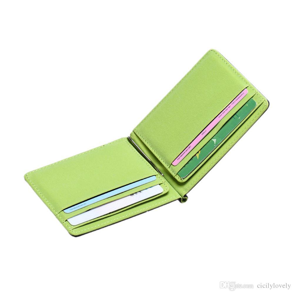 Uomo maschio 2018 PU in pelle casuale portafoglio magico Mini carino portafogli borsa le donne Fashion Bank Bank ID titolare della carta di credito gli studenti
