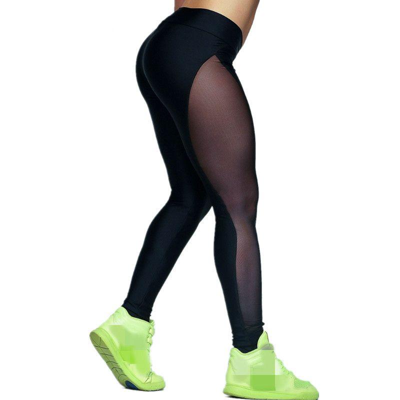 Compre Pantalones De Yoga Para Mujer Medias Running Leggings Pantalones  Deportivos Mujer Mujer Gym Running Mesh Workout Pants Fitness Yoga A  21.12  Del ... 2a879816b3c9