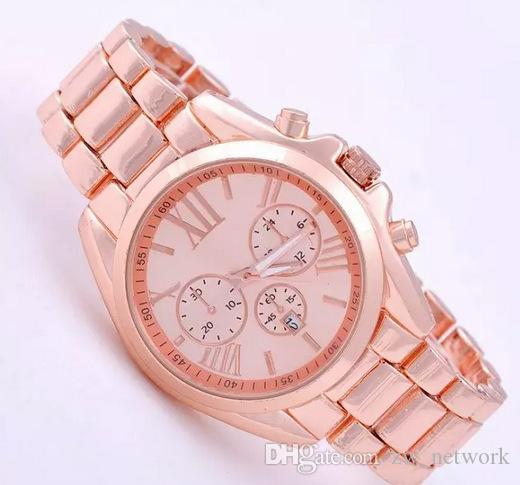 Compre Relojes De Acero Inoxidable De Los Hombres De Moda Reloj De Oro Rosa  De Lujo Para Los Hombres De Las Mujeres De Oro Número Romano Reloj De La  Banda ... 4a7a675cb201