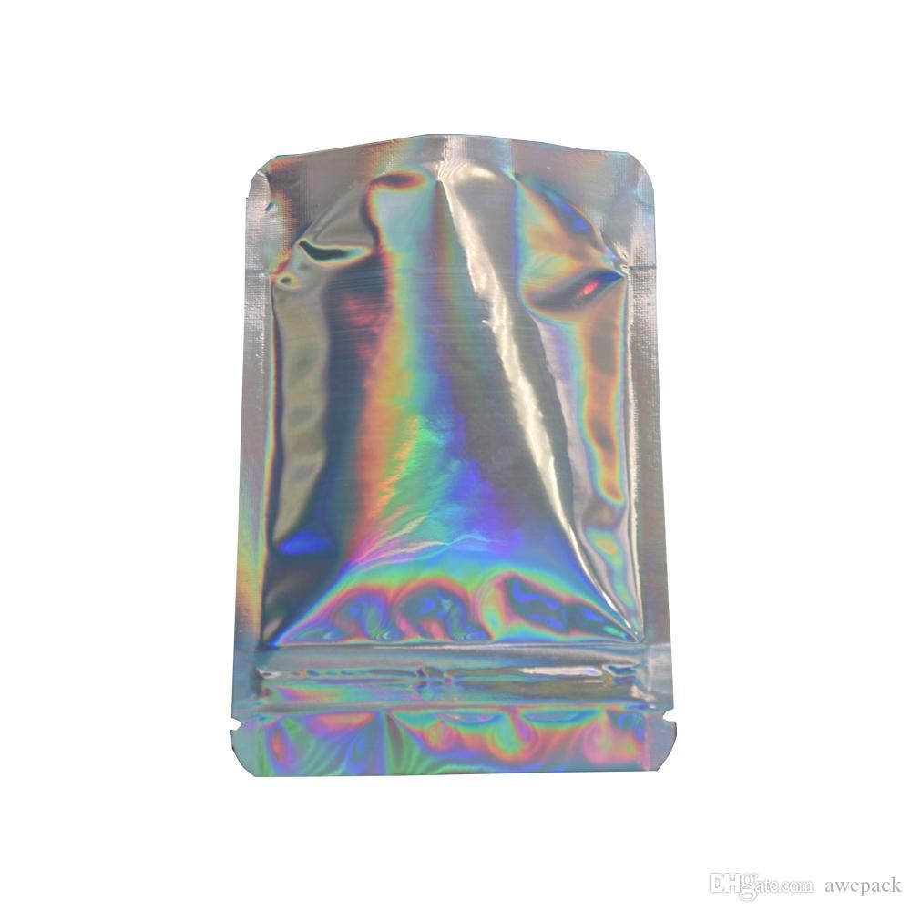 Stand up lampo scintillante della chiusura della chiusura della chiusura della chiusura della cerniera 8.5x13cm Cerniera della cerniera richiudibile Top Mylar Borsa la borsa di stoccaggio della prova dell'odore della polvere dello zucchero
