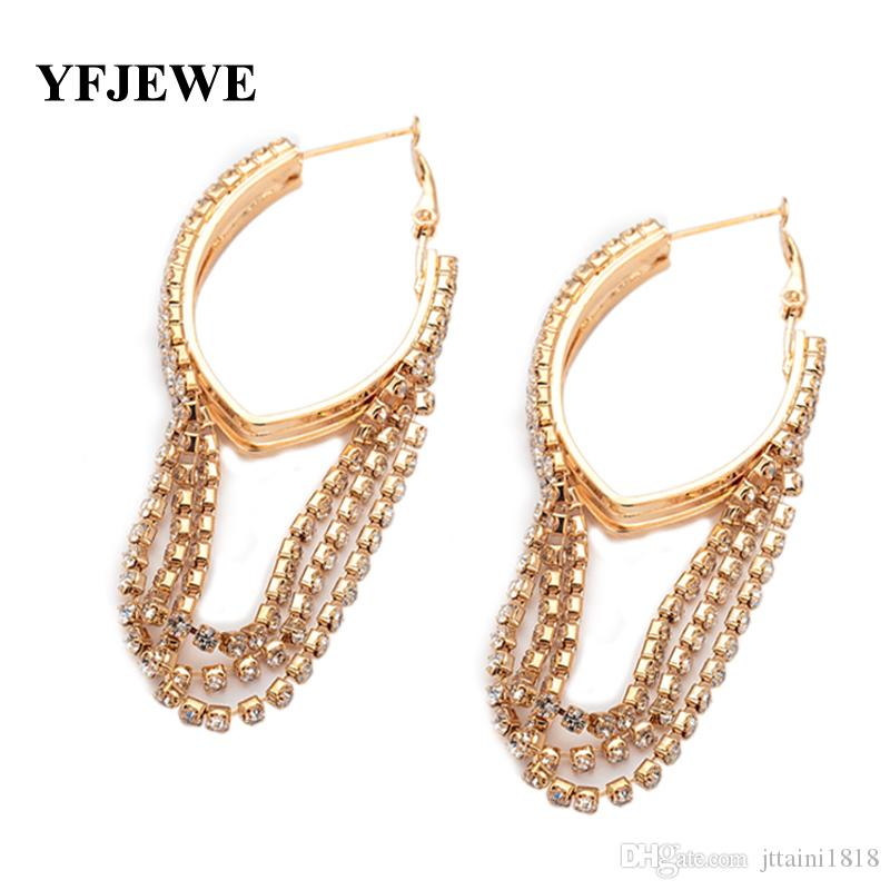 Fashion Jewelry Elegant Earrings for Women anti-allergic female hoop earrings vintage design long tassel earring E103