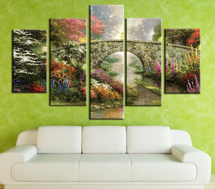 Großhandel Thomas Kinkade Leinwand Kunst Wandbilder Für Wohnzimmer 5 ...