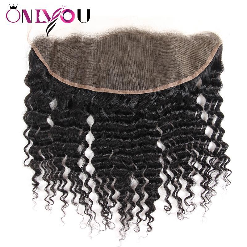 Brasiliano onda profonda vergine chiusura dei capelli ricci crespi tessuto dei capelli umani fasci con chiusura diritta 4 fasci e tesse trame di capelli all'ingrosso